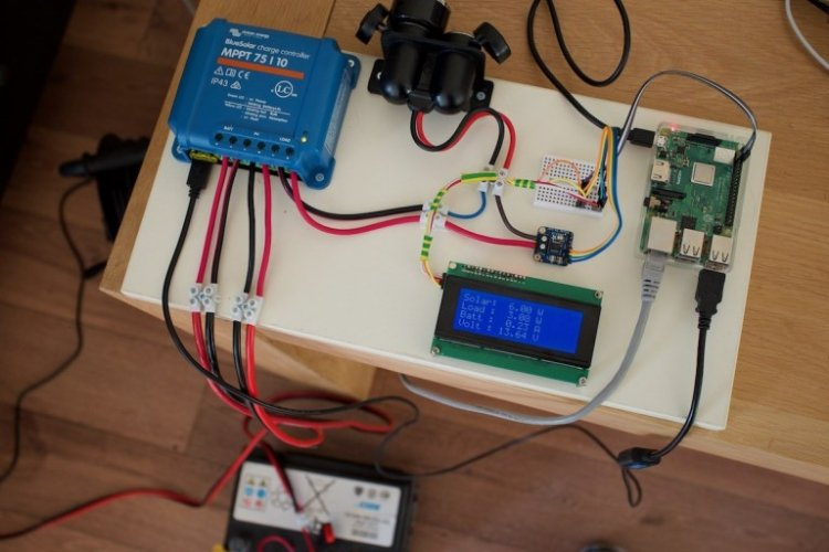 Website that runs on Solar Powered Raspberry Pi